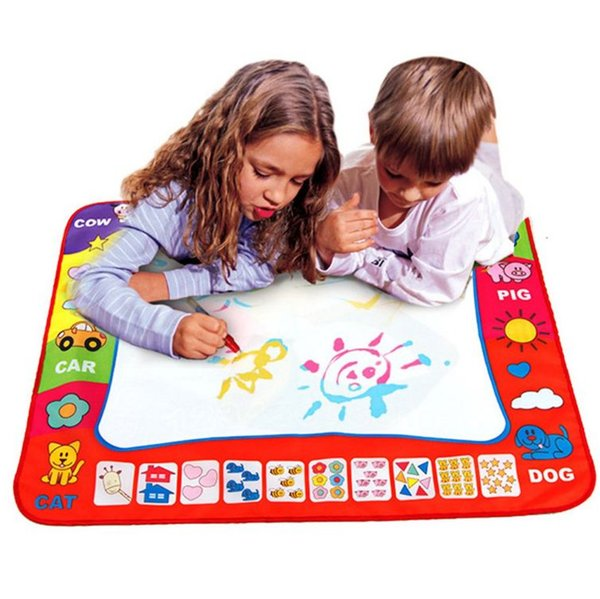 80 x 60cm Baby Kids Add Water with Magic Pen Doodle Painting Picture Water Drawing Play Mat in Drawing Toys Board Gift Christmas
