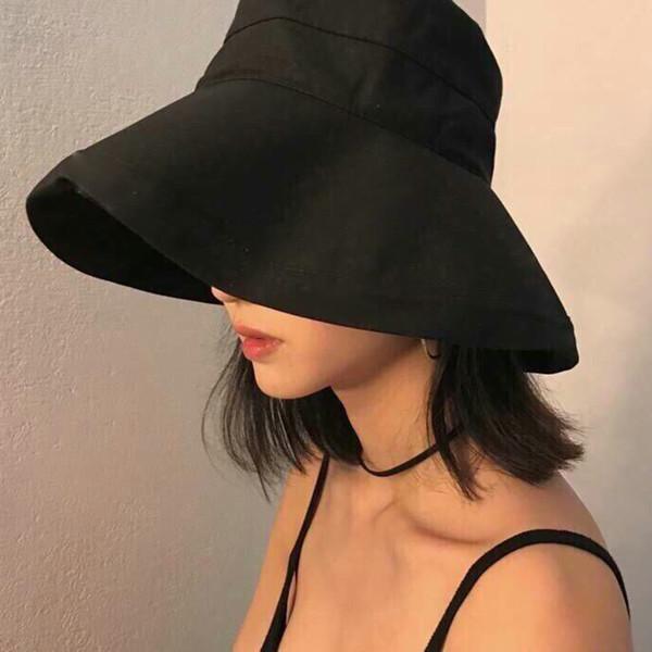 Hot Sale 7 Solid Colors Bucket Hats for Women Men Panama Bucket Cap Women Hat