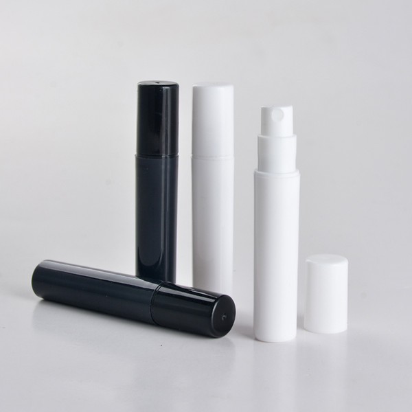 100pcs/lot 2ml 3ml 4ml 5ml mini plastic spray perfume bottle, small promotion sample black perfume atomizer