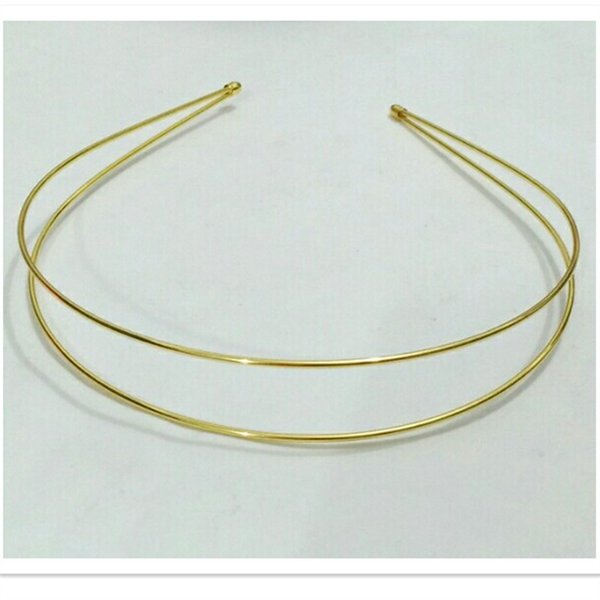 25pcs novo estilo headband de ferro dupla linha headband acessórios para o cabelo diy