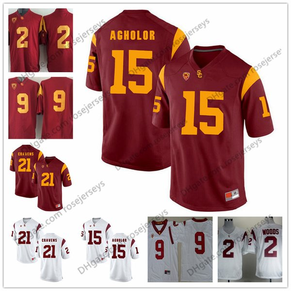 d2a99e9420d 2019 USC Trojans #2 Adoree' Jackson Robert Woods 6 Mark Sanchez 10 Brian  Cushing 15 Nelson Agholor 8 Nick Perry Red White Vintage Jersey From  Rosejerseys, ...