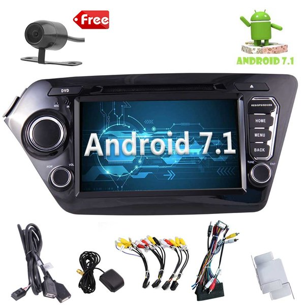 Car Audio Radio Stereo for KIA K2(2011-2012) Android 7. 1 GPS Navigation System 8''Quad-core car DVD WiFi AM/FM Bluetooth Receiver Mirror