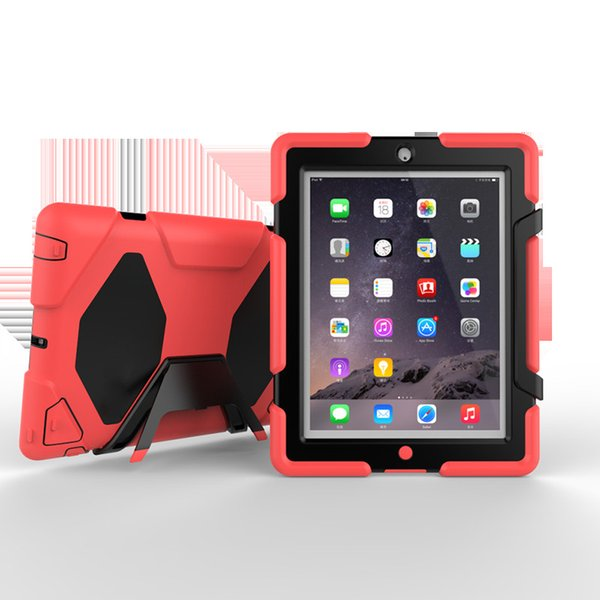 41b1f99dbed7 Hybrid Heavy Duty Stand Case Rugged Silicon PC Rubber Armor Hard Cover for Apple  iPad 2 3 4 Shockproof Cases+ Stylus
