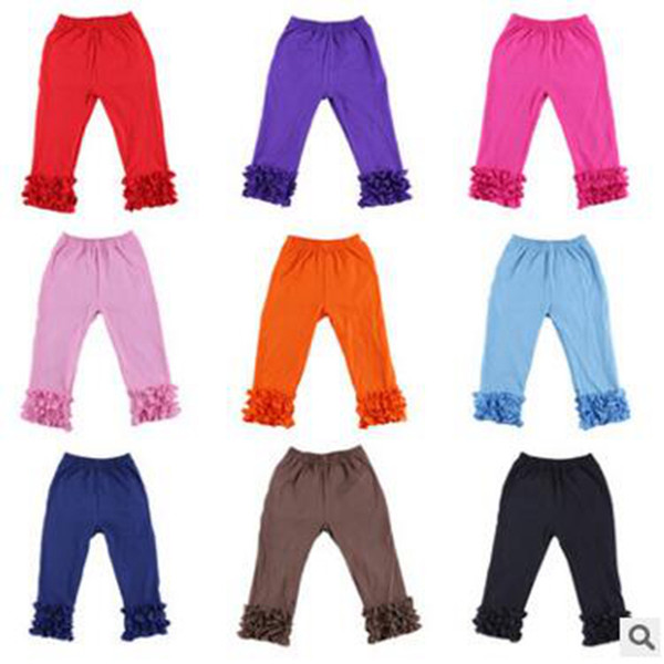 Girls Ruffe Pants Baby Cotton Clothes Baby Warmer Leggings Tights Kds Fashion Trousers Korean Styles 10 Colors YL13-1