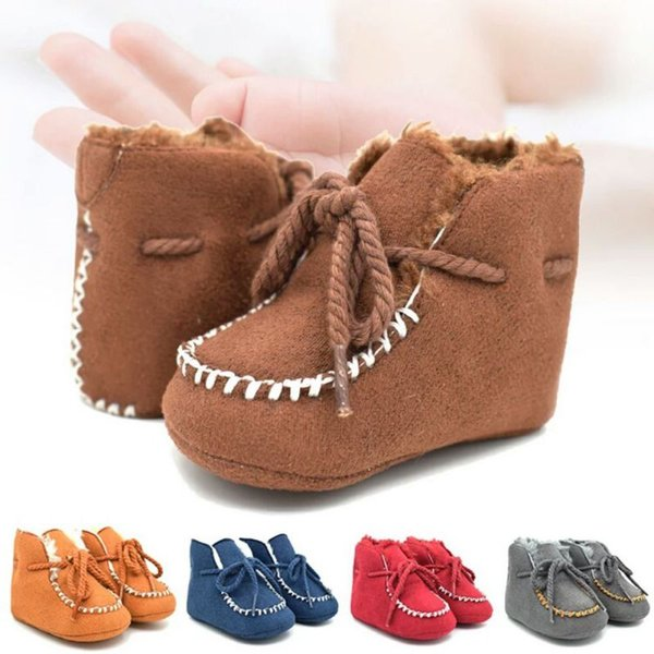 46fcdebbf Girls Baby Booties Sheepskin Genuine Leather Boy Baby Boots Fur Newborns Winter  Baby Shoes Boots Infants