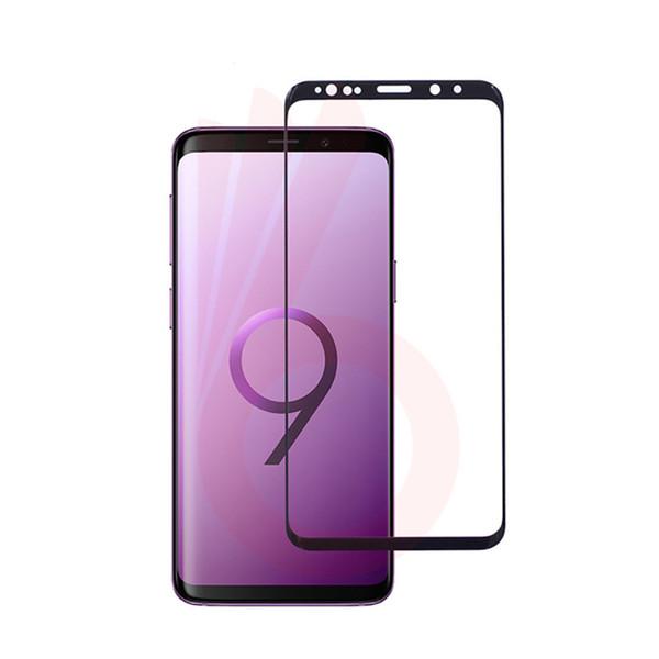 3D redondo curvado para Samsung Galaxy S9 S8 Plus Note 8 S7 S6 Edge S9 S8 Plus 9H Protector de pantalla de vidrio templado de cubierta completa