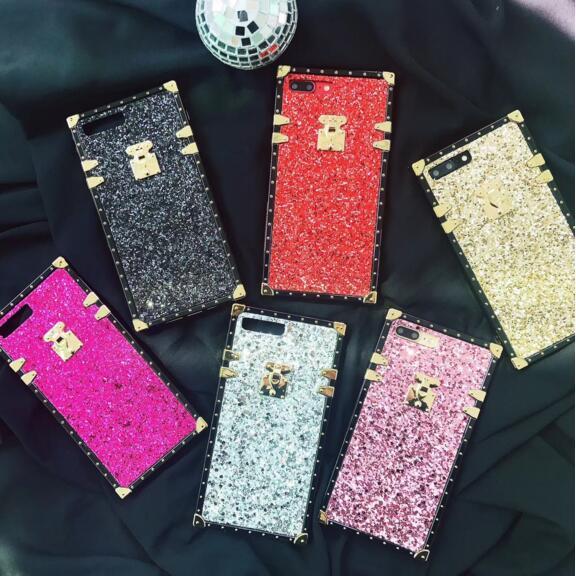 Luxus designer platz kristall telefon case für iphone x xs max xr 8 7 6 s 6 plus 8 plus 7 plus stoßfest zurück gehäuse abdeckung bling bling stil