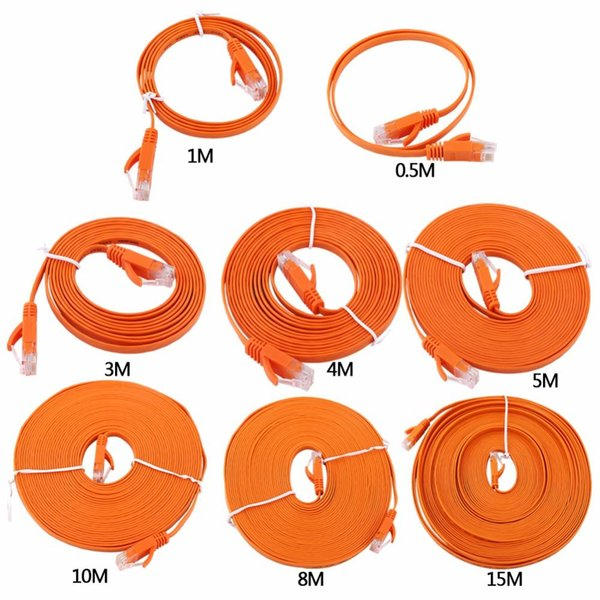 0.5m 1m 2m 3m 5m 1000M Gigabit High Speed RJ45 CAT6 Ethernet Network Flat LAN Cable UTP Patch Router Cables