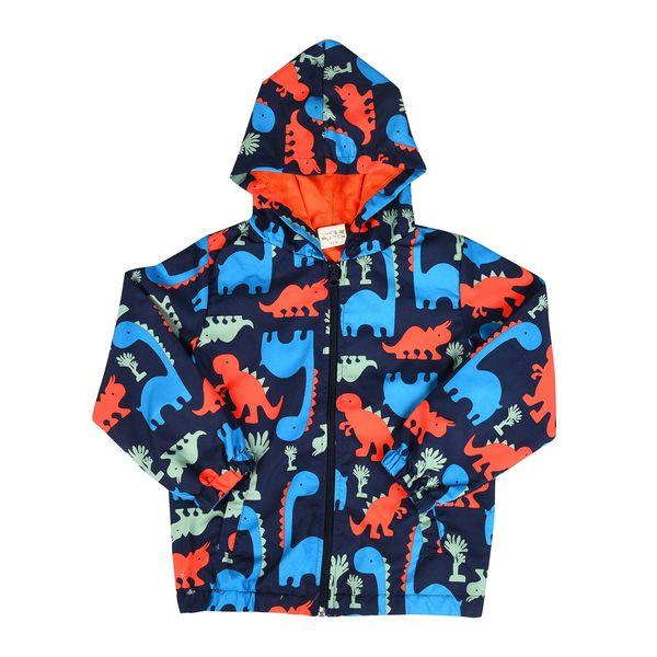 Baby Boy Dinosaurs Jackets Windproof Children's Jackets Spring Autumn Kid Wear European & American Style Baby Tops