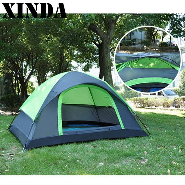 High Quality New Windproof Camping Tent Waterproof Oxford Cloth Dual Layers Outdoor Sport Beach Travel Hiking Tents Large Space