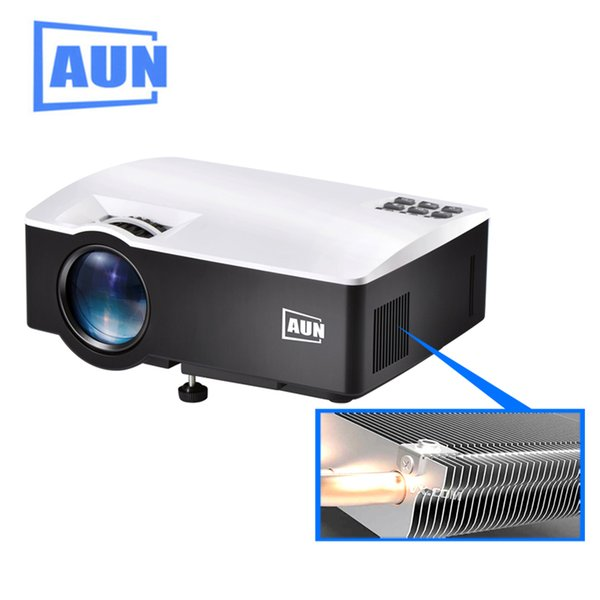 2017 AUN AKEY1/Plus Android 6 portable Video LCD Digital HDMI USB AV SD mini LED Projector Home Theater fuLl HD 1080P Proyector