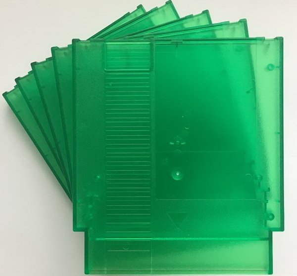 Peppermint Green color 72 Pins Game Cartridge Replacement Plastic Shell For NES Console