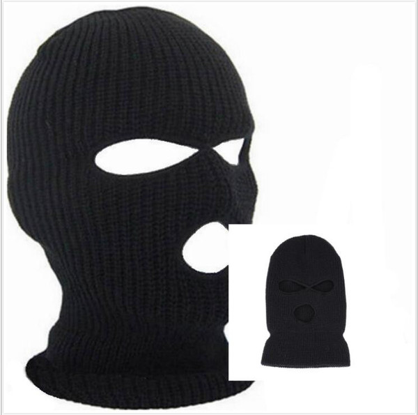 Winter Balaclava For Adults Mens Womens Cycling Skiing Full Face Mask With Holes Covering Caps Knit Acrylic Man Sports Beanie Hats CNY822