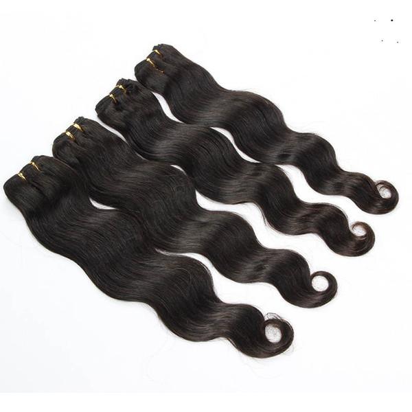 10-30 pollici brasiliani dell'onda del corpo delle estensioni 100% dei capelli del tessuto dei capelli umani di Remy di colore naturale 1 pacchi