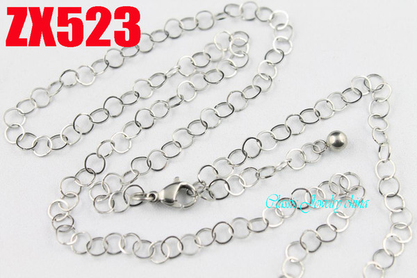 100 meters 4mm square wire annulus welding chain stainless steel necklace fashion Sweater chain ZX523