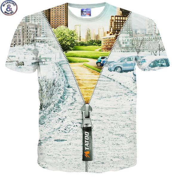 Mr .1991 Brand Magical Zipper 3d Print T -Shirt For Kids Summer Style Short Sleeve Round Collar Children 'S Tshirt Girls Boys Dt16
