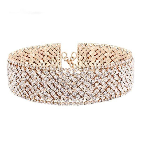 Fashion Rhinestone Chokers Necklaces For Women Chocker Crystal Rhinestone Shining Jewelry Party Night Dress Ornament