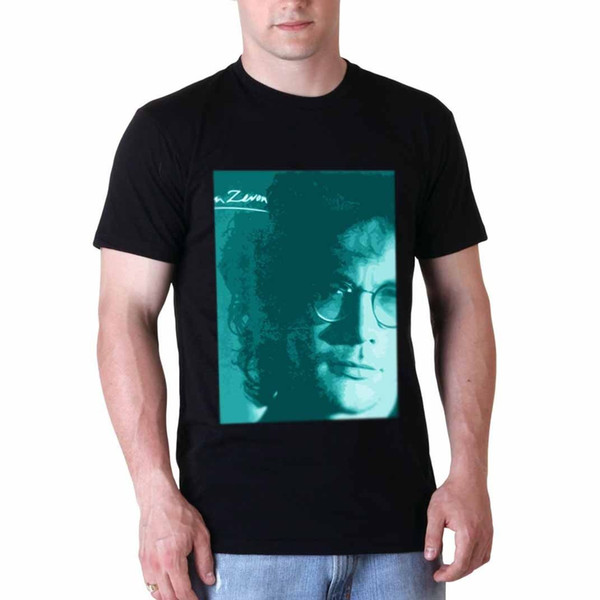 Warren Zevon Tshirt Siyah Yeni erkek Tshirt Tee Boyutu S 3XL