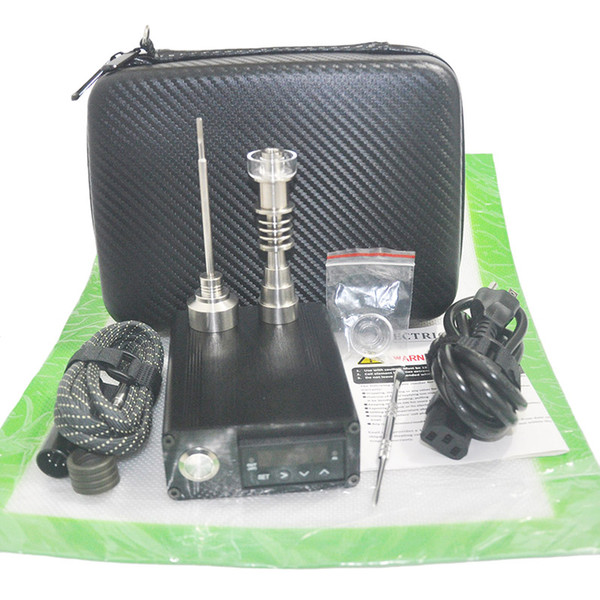 Cheap Dab E Electric Nail Kit Heater Coil PID box Hybrid Nail With Silicone Pad Dab Rig Free Shipping