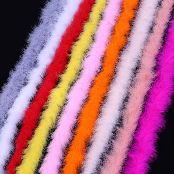 Colorful 2M Marabou Feather Boa For Boas Women Lady Fancy Dress Decoration Wedding Festive Party Supplies