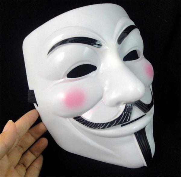 Maschere mascherate per vendetta anonima Valentine Ball Party Decoration Full Face Maschera di Halloween Super Scary Party
