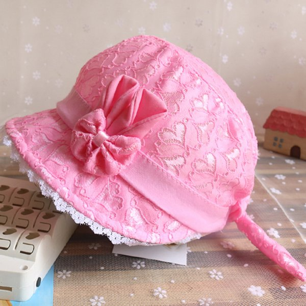 d90957eda2c4 2019 Summer Cute Princess Baby Hat With Bow Solid Color Lace Hollow Baby  Girl Cap Toddler Kids Beach Bucket Hats From Fkansis, $20.96 | DHgate.Com