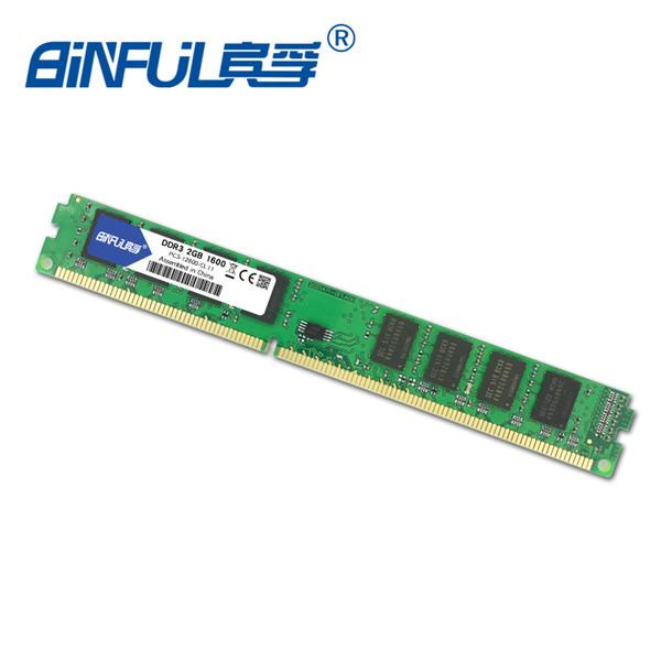 ddr3 2 Binful Original DDR3 2 4GB 1066 /1333mhz /1600 3-8500/ PC3-10600S/ PC3-12800S Desktop RAM Memory 1.5