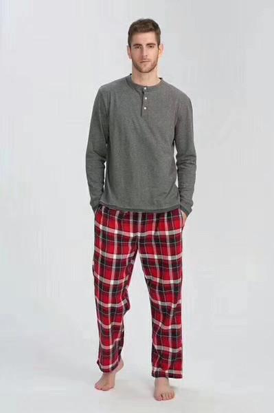 Free Shipping Autumn Men Sleep Pajamas Sleeping Home Clothing Cotton Eur Plus Size Sleepingwear Homme Quality Sales