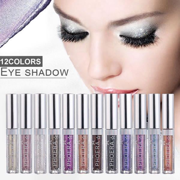 Eye Shadow 12 Color Makeup Shimmer Eye Shadow Magnificent Metals Glitter Glow Liquid Eyeshadow Cosmetics Tool Make Up Kits