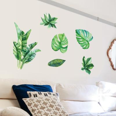 Green Plant Wall Stickers Wallpaper Wall Picture Art Vintage Room Home Decor Kitchen Accessories Household Craft Suppllies