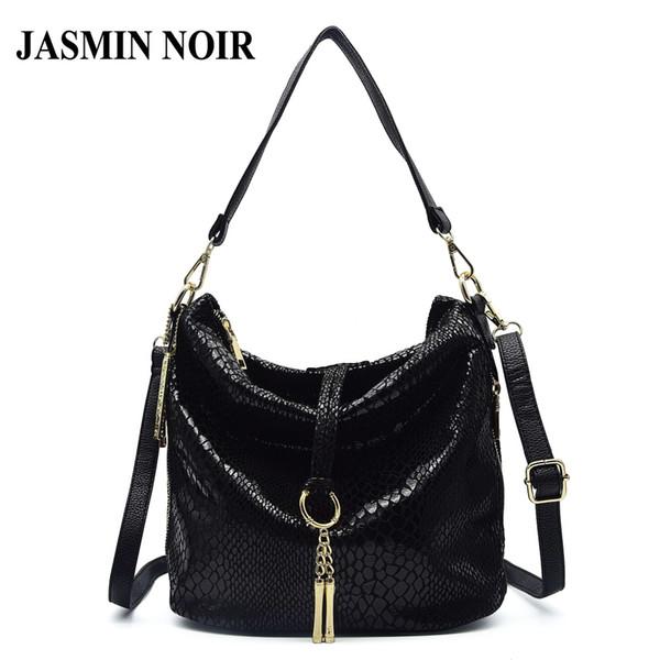 New Fashion Snake Pattern Pu Leather Handbag Tassel Bag Crossbody Bags for Women Zipper Designer Hobos Shoulder Bags Tote Bag