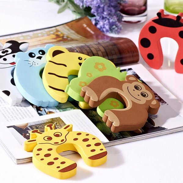 top popular Door stop safety animal cartoon door plug baby safety gates wholesale baby finger protector free shipping 2019
