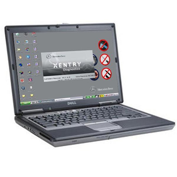 95% nouveau portable utilisé D630 pour obd2 voiture outil de diagnostic connecteur pas de disque dur Appliquer à MB STAR C3 / C4 / C5 et ICOM A2 / A3 OBD2 scanner