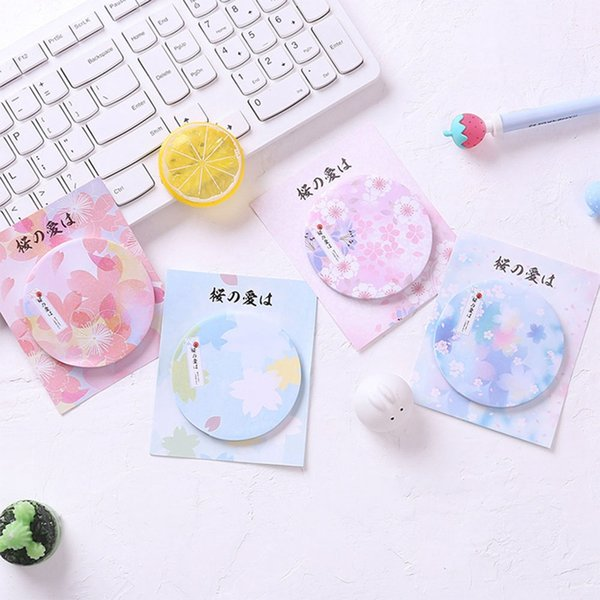 Sakura Peach plum Blossom Memo Pad N Times Sticky Notes Memo Notepad Bookmark Gift Stationery Office