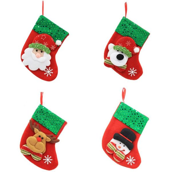 Xmas Stockings Merry Christmas Decorations Bags Socks Classic Candy Bag Hanging Ornament