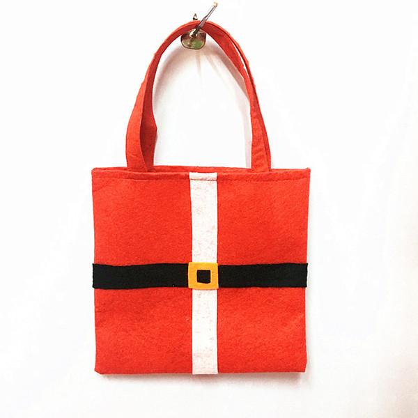 Santa Claus Bags 21*21cm Non-woven Xmas candy Gift Handbags Christmas Party Decoration C5402
