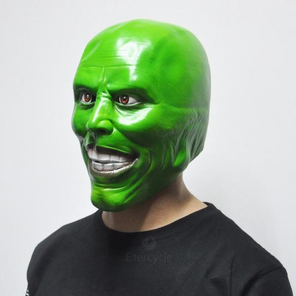 2018 Venda Quente A Máscara Jim Carrey Máscaras de Halloween Adulto Máscara de Látex Filme Cosplay Brinquedo Adereços Partido Vestido Extravagante