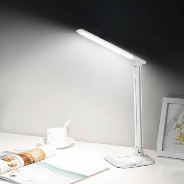 USB Rechargeable LED Dask Lamp Dimmer Touch On/Off Switch Table Light LED Book Light Office Children Study Eye Protective Lamp