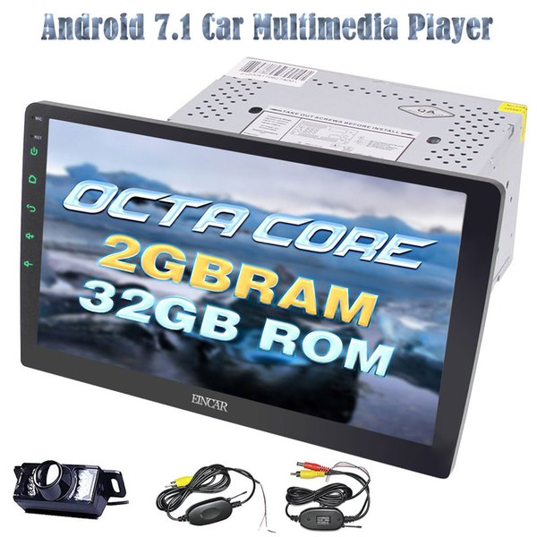 EinCar Car Stereo 10.1 '' Octa-core 2 GB + 32 GB Duplo Din Car Radio Android 7.1 navegação GPS Espelhamento Bluetooth Autoradio WIFI OBD 3G 4G