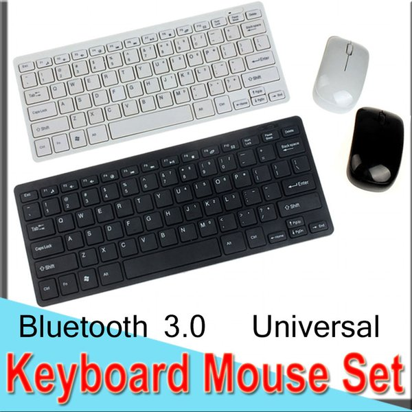 Keyboard Mouse Set Combos Ultra-Slim 2.4G Wireless Combos Mini Keyboard and Mouse Bluetooth3.0 USB Universal for Laptop DHL XCTHK3300