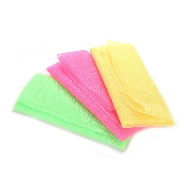 Exfoliante Nylon Baño Ducha Cuerpo Limpieza Lavado fregar Toalla de tela Esponjas Fregadoras Venta caliente