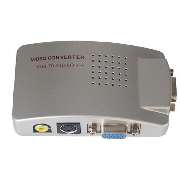 2018 New PC Laptop VGA to AV RCA TV Monitor S-video Signal Adapter Converter Switch Box jn5