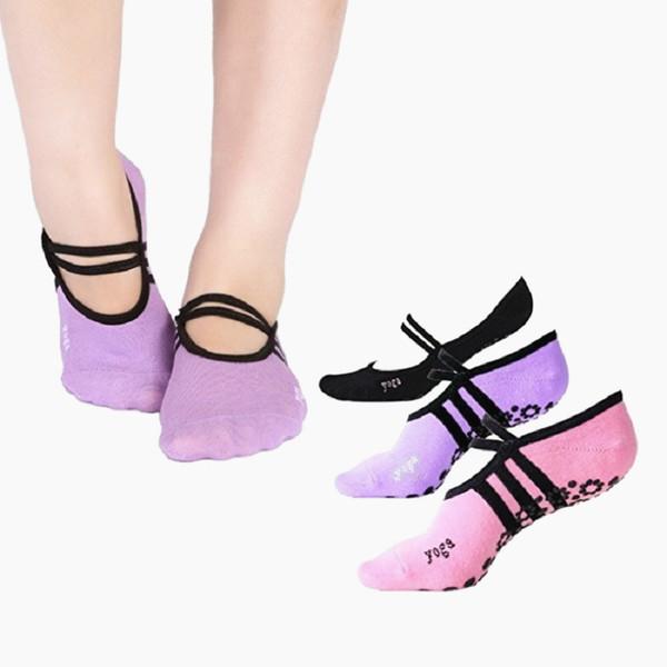 Yoga Socks Non Slip Skid Socks Pilates Running Pink Black Women Anti Slip Cotton Fitness Dance Sock