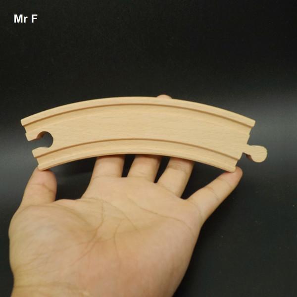 8 pçs / set veículos crianças brinquedos modelo de quebra-cabeça de madeira do trilho de trem de trem de brinquedo diâmetro 45 cm ensino prop