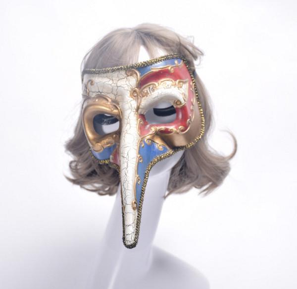 Disfraces de Halloween Hombres Mujeres Niños Peste Pájaro Pájaros Máscaras de Plástico Steampunk Doctor Venetians Máscaras Partido Cosplay Accesorios del traje