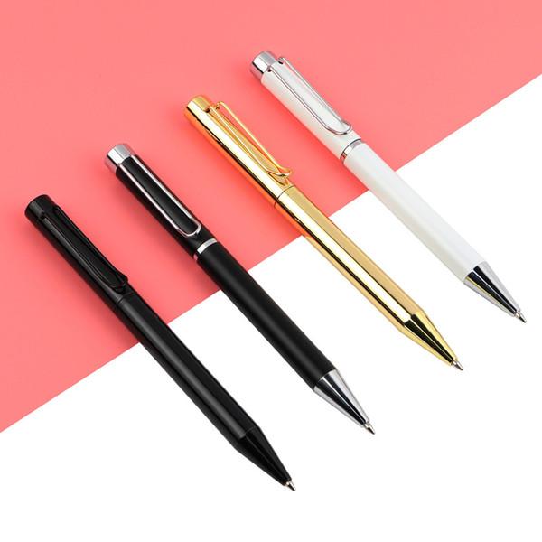 GENKKY 1 STÜCKE Hohe Qualität Metall Schwere Kugelschreiber 0,7mm Blau / Schwarz Kugelschreiber Förderung Geschenk Stift für Büro Schule unisex