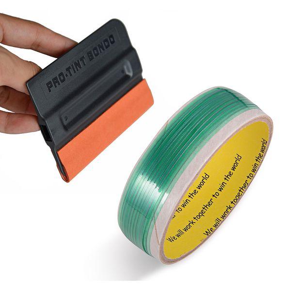 FOSHIO 5Meter Knifeless Tape+Tint Squeegee Vinyl Sticker Cutting Tape Carbon Fiber Car Wrap Cut Foil Accessories for Window Tint