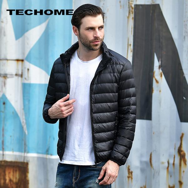 2019 2017 New Men winter jacket men Ultra Light White Duck Down Jackets Casual Portable Winter Coat for Men Plus Size Down Parkas