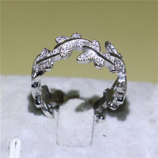 Vorzüglicher Schmetterlings-Ring-Schmuck 925 Silber füllte Hochzeits-Verlobungs-Band-Ringe für Braut-ewiges Geschenk US-Größe 5-10 Groß- und Kleinhandel