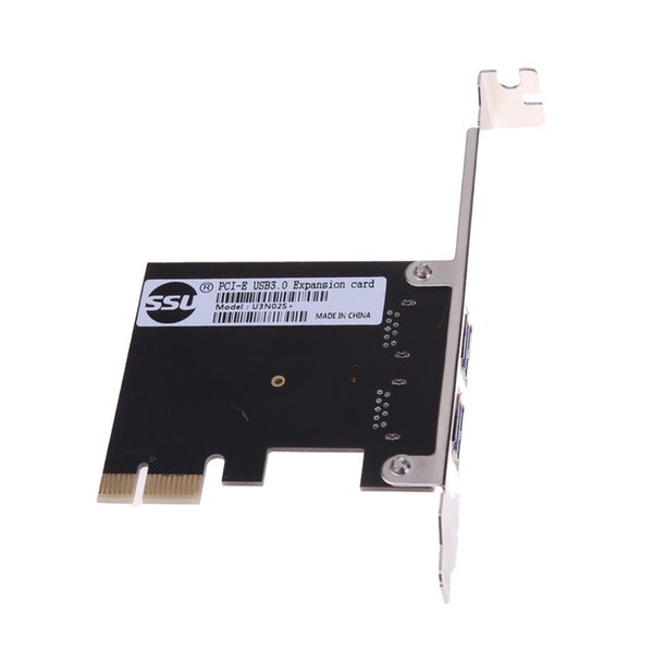 high quality 2 Port USB 3.0 5Gb/s PCI-Express X1 PCI-E x1/x4/x8/x16 Host Controller Card Adapter with CD Driver for Computer